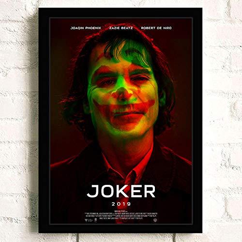 Flduod Joker 2019 Joaquin Phoenix Wärme Ledger Film Comics Wandkunst Malerei auf Leinwand Bar Raum Poster Bilder Wohnkultur-40x50cm