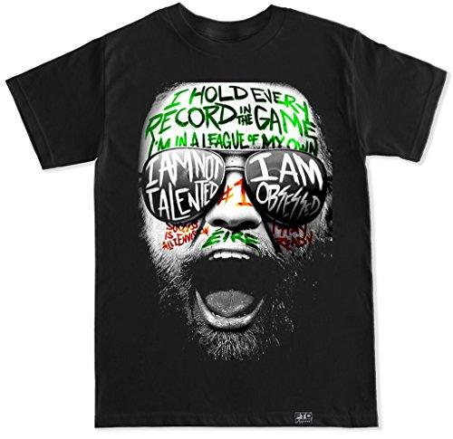 FTD Apparel Men's Conor Graffiti T Shirt - Large Black