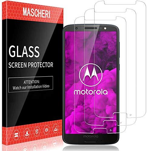 MASCHERI 3 Stück Panzerglas für Motorola Moto G6 Schutzfolie 9H Festigkeit Panzerglasfolie Blasenfrei Schutzglass Folie Panzerglass für Motorola Moto G6