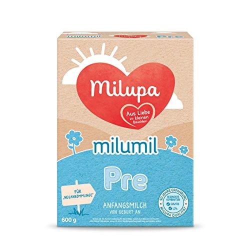 Milupa Milumil Pre Anfangsmilch - von Geburt an, 4er Pack (4 x 600g)