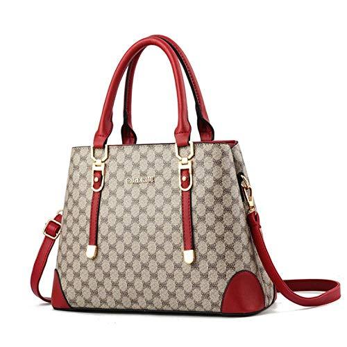 Handtas voor dames, schoudertas met één schouder, grote capaciteit en meerdere vakken, waterdicht en slijtvast, comfortabel en lichtgewicht, geschikt om te winkelen en te verzamelen.