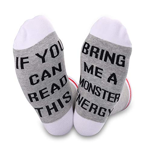 Si usted puede leer esto traerme a bebidas calcetines Gris U.monster E M