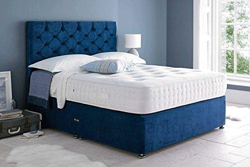 Sleep Factory Ltd Mona Velvet Divan Bed Set With 3000 Organic Pocket Memory...