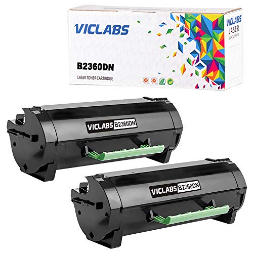 VicLabs Compatible B2360DN Toner(331-9805), Replacement for Dell B2360DN Toner Cartridge for Dell B2360 B2360D B2360DN B3460 B3460D B3460DN B3465 B3465DN B3465DNF Printers-8,500 Pages?2-Pack,Black?