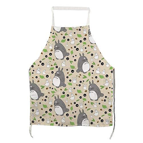 Schort Mijn Buurman Totoro Patroon - Kleur! voor Polyester met Mannen en Vrouwen voor Koken, Barbecue en Bakken met Zakken