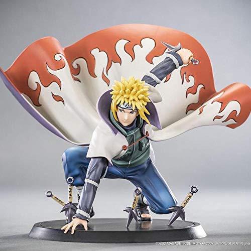 GUANGHHAO Naruto Namikaze Minato Anime Abbildung 14cm-Vier Generationen Von Naruto-Figur Dekoration Ornamente SammlerstüCke Spielzeug Animationen Charakter Modell
