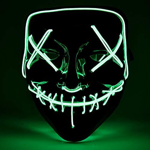 Hisome Halloween LED Máscaras, Mascaras de...