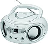 AEG SR 4374 - Radio con CD, estéreo, con Puerto USB, Entrada Auxiliar, Pantalla LCD