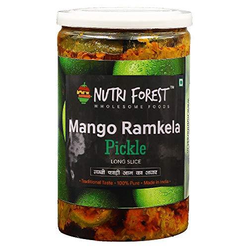 Nutri Forest Ramkela Mango Pickle -400gm Homemade North Indian Aam ka Achar Pickles