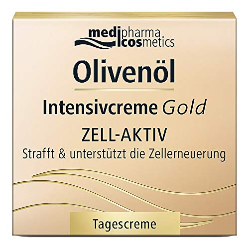 Olivenöl Intensivcreme Gold Zell-Aktiv Strafft und Unterstützt die Zellerneuerung, 50 ml