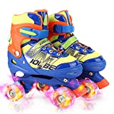 Otw-Cool Adjustable Roller Skates for Boys and Kids, All 8 Wheels of Boy's Skates Shine, Safe and Fun Illuminating...