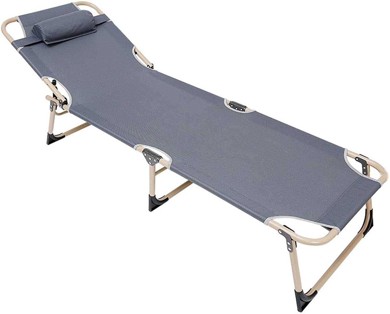 Klappstuhl Anpassen Bett Liege Tragbare Rückenlehne Mittagspause Freizeit Outdoor Wandern Camping Strand Angeln 175  56  18 cm MUMUJIN