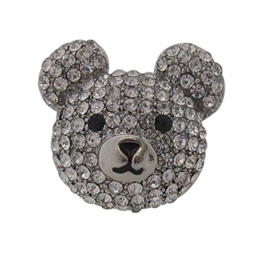 Brooch Boutique Silver Crystal Set Teddy Bear Face Brooch