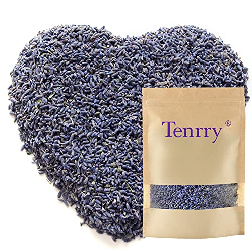 Dried Lavender, Tenrry Lavender Flowers, Lavender Buds with Fresh Fragrance, Ideal for Lavender Tea, Baking, Lavender Sachet & Lavender DIY Projects