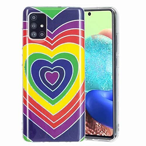 Carcasa para Samsung Galaxy A32 5G, diseño de esquinas reforzadas, de gel ligero, de silicona suave, de poliuretano termoplástico (TPU), diseño floral