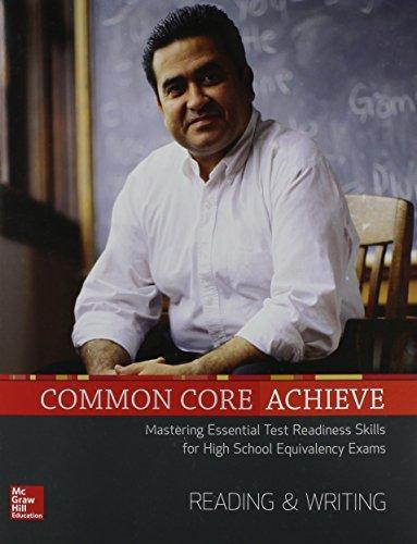 Common Core Achieve Reading And Writing Subject Module Basics Achieve