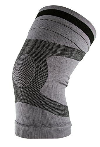 Body Glove Comfort Copper Knee Compression Sleeve - Meniscus Knee Support for Women and Men - Knee Pain Relief, Workout Knee Protection, Post-Surgery Recovery, Patella Support, Sport (Grey, X-Large)