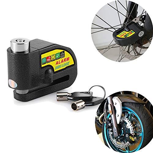 Ourleeme 110DB Sicherheitsalarm Motorrad Diebstahlsicherung Alarmanlage Radbremse für Harley KTM Yamaha