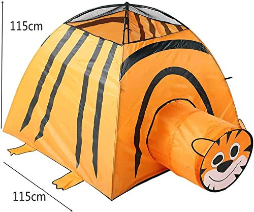 Kids Playhouse Tent, Pop Up Kids Play Tent, Tiger Tunnel Cartoon, Jongens/meisjes Toy Play Tent/Playhouse voor Indoor en Outdoor Games