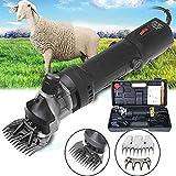 sinbide 690w 6-speed regolabile tosatrice/tosatrice professionale a lama elettrica per animali capre di pecora lamas alpacas (nero)
