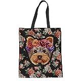 HUGS IDEA - Bolsa de lona de algodón para mujer, diseño de Yorkshire...