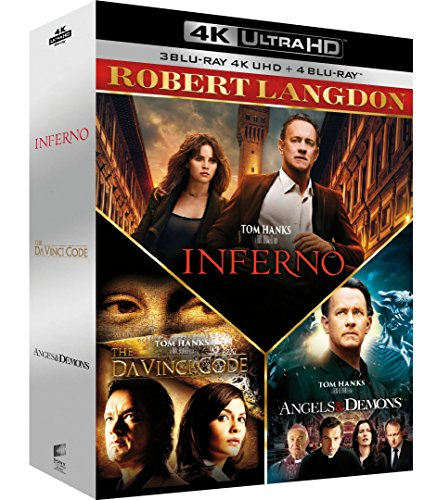Robert Langdon - Da Vinci Code + Anges & démons + Inferno [4K Ultra HD + Blu-ray]