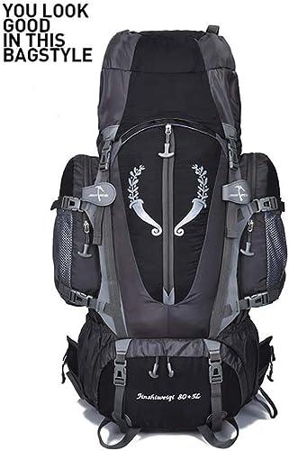 Backpack Sac d'alpinisme Professionnel Grande Capacité-85L Sac Extérieur étanche-Hommes Et Femmes Sacs à Dos De Randonnée - Sac à Dos De Support De Suspension,noir