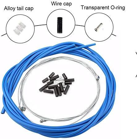 1 Paire De V/éLo C/âBle De Frein Cable Frein VTT Kit De V/éLos Avant Et Arri/èRe du C/âBle De Frein De V/éLo Pi/èCes Noir