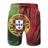 Smalaty Pantalones Cortos de Playa para Hombre con Bandera Portuguesa de Portugal, bañadores, Pantalones Casuales de Gimnasio con Bolsillo