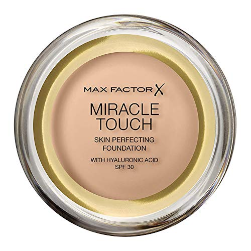 Max Factor Miracle Touch Foundation, New and Improved Formula, SPF 30 and Hyaluronic Acid, 43 Golden Ivory
