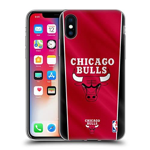Head Case Designs Oficial NBA Pancarta Chicago Bulls Carcasa de Gel de Silicona Compatible con Apple iPhone X/iPhone XS