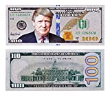 Donald Trump $100 Bill - Authentic Silver Plated Commemorative Bank Note Collectors Item in Currency Holder - Amazing Detail On This Federal Trump Note