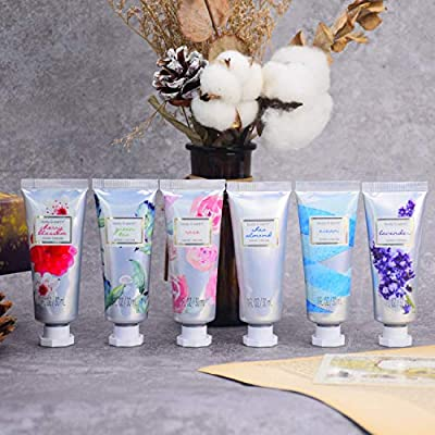 Hand Cream Gift Set, BODY & EARTH Hand Lotion for Dry Hands, Moisturizing with Shea Butter, 12pc Travel size, Best Gifts Idea for Women