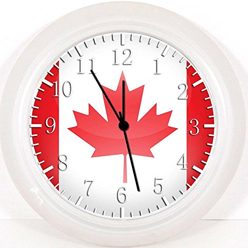 Flagge von Kanada Wanduhr 25,4cm Will Be Nice Gift und Raum Wand Decor Hundebett