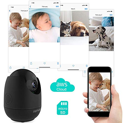 Netvue Baby Monitor, Wi-Fi Security Camera 360° Views, Indoor Camera for Pet Dog Cat Monitor, Pan & Tilt & Zoom, 2-Way…