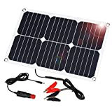 SUAOKI 12V Solar Car Battery Charger, 18W Trickle Solar Panel Charger,...