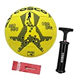 DealBindaas Cosco Rio PVC Football With Hand Pump And Needle, Size Kids, (Multicolour)