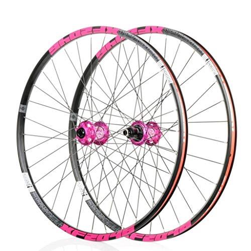 WWL 700C Ruedas Ciclismo Freno Disco Liberación Rápida 26'27,5' 29'Cierre Rápido Compatible con 32 Orificios 7/8/9/10/11 Velocidad (Color : D)