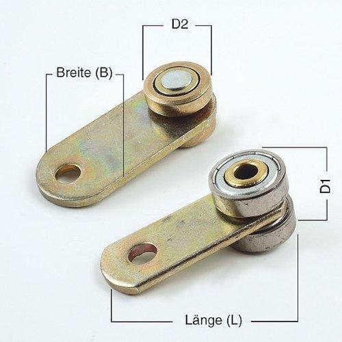 Vorhangrolle 1-Loch mit Stahlkugellager für Profil 45