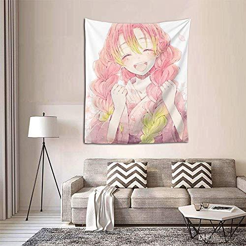 Kimetsu-No-Yaiba-Anime-Mitsuri-Kanroji - Tapiz para colgar en la pared para dormitorio, sala de estar, dormitorio, hogar, 4 tamaños