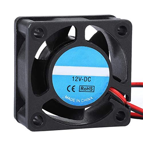 Vbestlife1 Ventilador de refrigeración para Impresora 3D, 12V 0.15A, 40x40x19mm Impresora 3D portátil 4020 Ventilador de radiador con cojinete de Manguito
