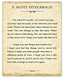 Inspirational Wall Art, F. Scott Fitzgerald Quote: For What It's Worth… Motivational Wall Art Posters - 11x14 Unframed, Positive Quotes Print, Unique Gift Idea for Home and Office Wall Decor