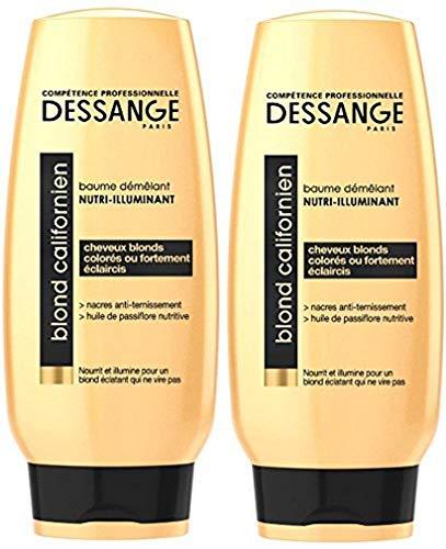 DESSANGE - Blond Californien Baume Démêlant Nutri-Illuminant Pour Cheveux Blonds, Colorés Ou Fortement Eclaircis - 200 ml - Lot de 2