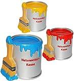 alles-meine.de GmbH 1 Stück _ Spardose -  Heimwerker Kasse  - Farbtopf mit Pinsel - Bunte Farben - Sparschwein - stabile Sparbüchse aus Kunstharz / Polyresin - für Kinder & Erw..