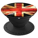 Vintage Groß Britannien Fahne Mädchen Teenager Geschenk - PopSockets Ausziehbarer Sockel und Griff für Smartphones und Tablets