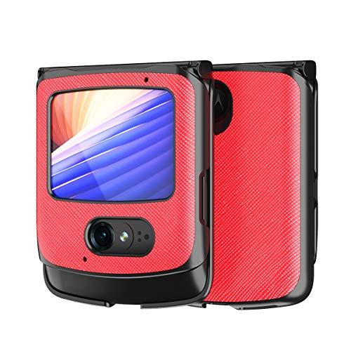 Hülle für Motorola razr 5G,PU Leder & PC Handyhülle Rückseite für Motorola razr 5G,Muster 1