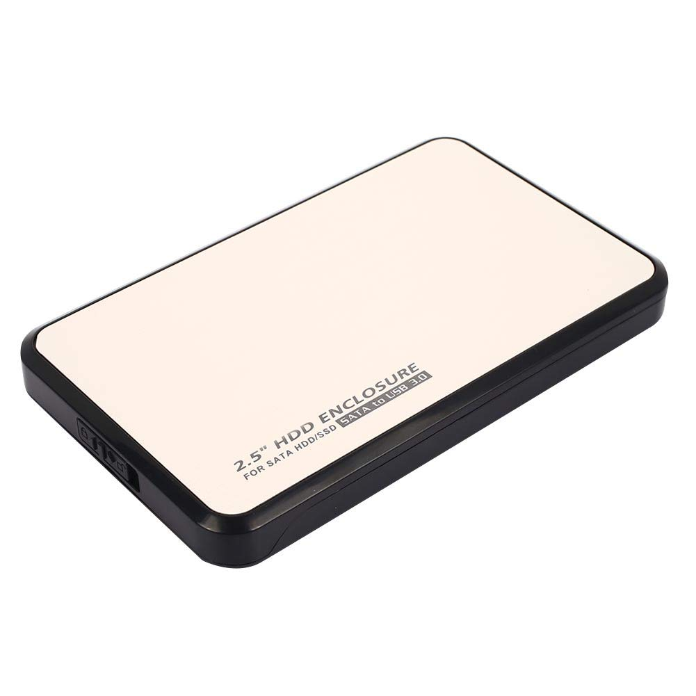 Haihuic Caja de Disco Duro Externo USB 3.0 a SATA, Herramienta Libre para 2.5 Pulgadas de 7 mm 9.5 mm 12.5 mm HDD SSD 6 TB Sandisk, Seagate, Toshiba   Plata: Amazon.es: Electrónica