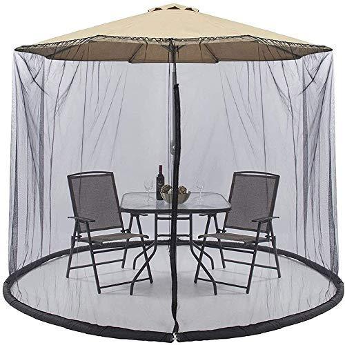FGVDJ Sombrilla de jardín al Aire Libre Su sombrilla en una glorieta Mosquitera para sombrilla, Cubierta de Mosquito de jardín al Aire Libre Sombrilla de Exterior Mos