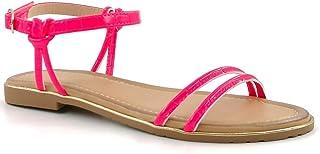 Angkorly - Chaussure Mode Nu-Pieds Sandale Claquette de Plage Bohème Femme lanière Boucle Multi-Bride Talon Bloc 2 CM