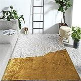 WQ-BBB Alfombra Dormitorio Antiincrustante Diseño Simple de Color de Contraste...